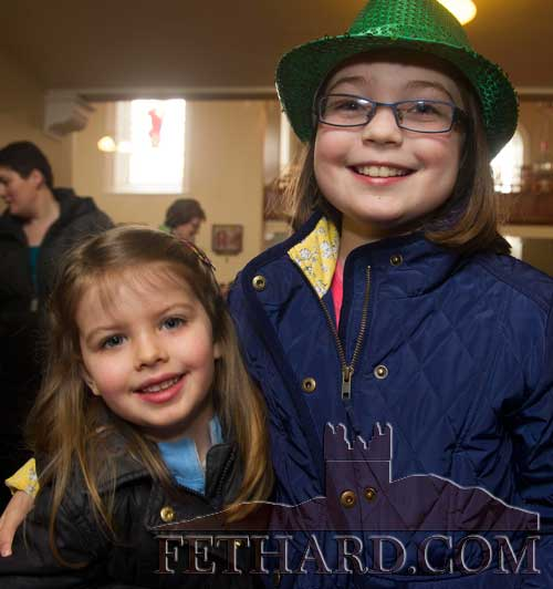 L to R: Lauren Connolly and Amy Morrissey in Fethard for St. Patrick's Day