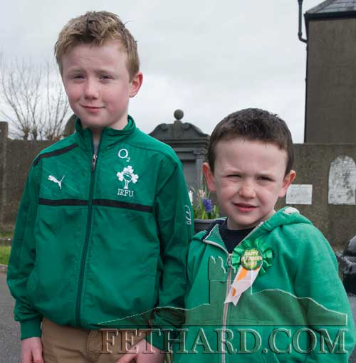 L to R: Matt Coen and Sam Coen at St. Patrick's Day Mass in Fethard