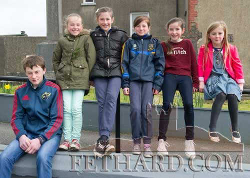 Members of the Spillane family from Tullamaine photographed on St. Patrick's Day in Fethard L to R: Jack, Heather, Lucy, Nell, Emily and Aine.