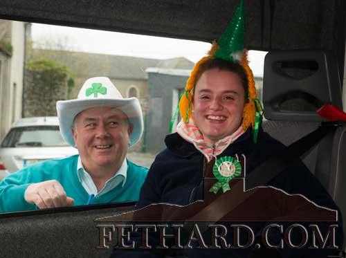 Heading off from Fethard for the St. Patrick's Day Parade are John Ryan (IWA) and Audrey Tynan.