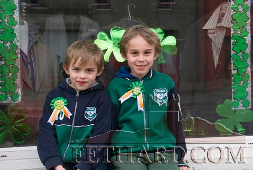 Brothers Sami and Aleksi Laaksonen photographed on St. Patrick's Day in Fethard.
