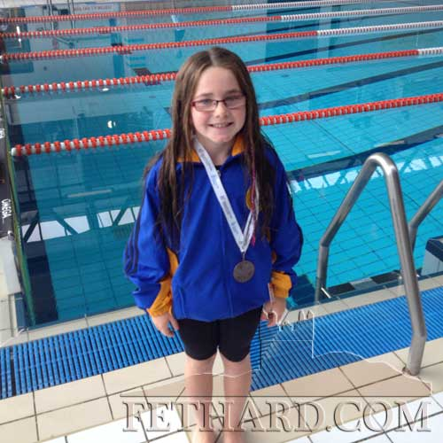 Isobel Maher, Tinakelly, who won a bronze medal at the National Swimming finals of the HSE Community Games in Athlone
