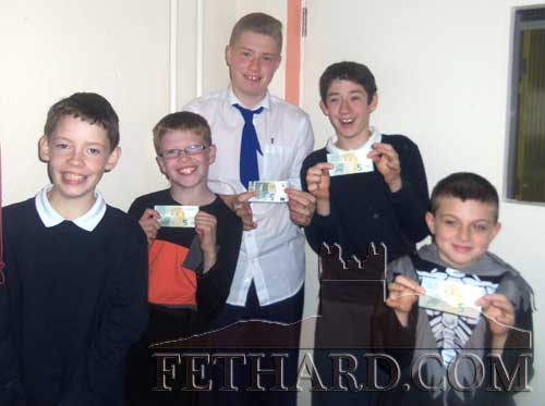 The winning team in the Holy Trinity National School's Halloween Table Quiz