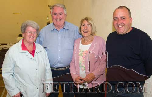 Photographed at the launch of the Cloneen & Killusty Community Text Alert Schemes in Cloneen Hall are L to R: Mary Fitzgerald, Michael Mallon, Thelma Griffith and Donncha Doyle.