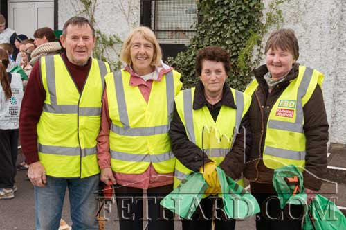 Helping keep Fethard in shape for the national Tidy Towns competition are L to R: Joe Keane, Thelma Griffith, Mary Connors and Maura Ryan