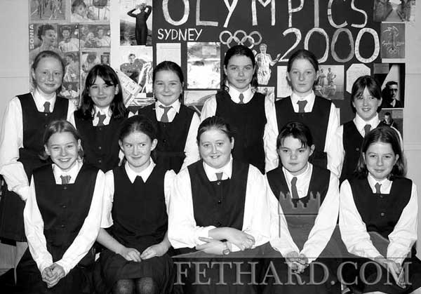 Sixth Class girls at Nano Nagle Primary School (2000). Back L to R: Denise McGrath, Martina Ryan, Katie Murphy, Tracey Burke, Donna Ryan, Chloe Power. Front L to R: Kate Maher, Emma Smyth, Samantha O'Brien, Rosanna Needham and Laura Burke.