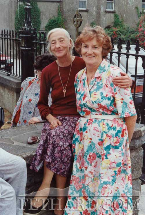 """I find it hard to believe that these two ladies, Agnes Allen and Babe Maher, died in 2001, such is the effect on memory of living away for so long. Agnes I remember from the late 1940s, a lovely person, part of the fabric of my life growing up on The Green in the 1950s. Babe and Bill Maher arrived a little later but again part of my growing up. Hillary Clinton said some years ago that a child needs a village in which to grow up as a well adjusted human being. These two ladies along with so many others provided that 'village'. Go ndeanaid Dia trocaire ar a hanam dills."" (Comment from Tom Healy and photo by Larry Kenny)"