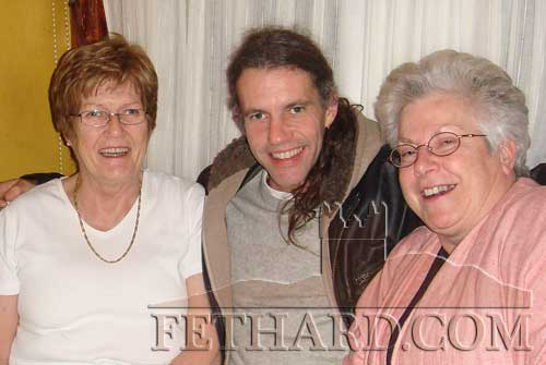 Aidan Ward photographed with his mother Mary (left) and her close friend Ann Lonergan after his concert in the Abymill Theatre on November 17, 2007.