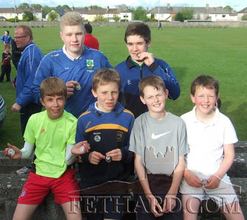 Taking part in the Fethard Area Athletics finals were Back L to R: Eathan Coen  Mark Heffernan. Front L to R: Charlie Pearson,Shane Neville, Keenan Aherne and Conor Neville