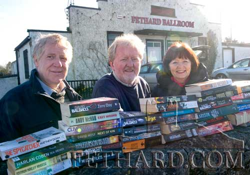 Preparing for this year's Tipperariana Book Fair on Sunday afternoon, February 8 at Fethard Ballroom are committee members L to R: John Cooney, Terry Cunningham and Mary Hanrahan.