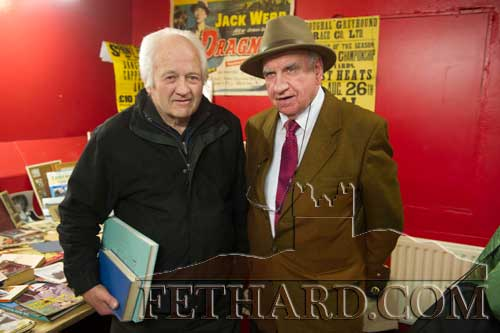 Photographed at the 20th Annual Tipperariana Book Fair in Fethard are L to R: Paddy Fitzgerald, Cahir and John Ryan, Clonmel.