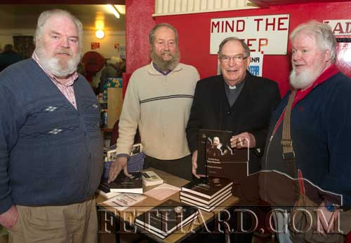 Photographed at the 20th Annual Tipperariana Book Fair in Fethard are relatives L to R: John Dwyer, Liam O'Dwyer, Fr Paddy Ryan, author of the winning Tipperariana 'book of the year' award entitled, Archbishop Miler Magrath The Enigma of Cashel', and Pat Dwyer.