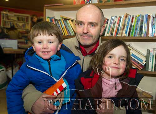 Richie Hayes photographed with his son Toby and daughter Jenna at the 20th Annual Tipperariana Book Fair in Fethard
