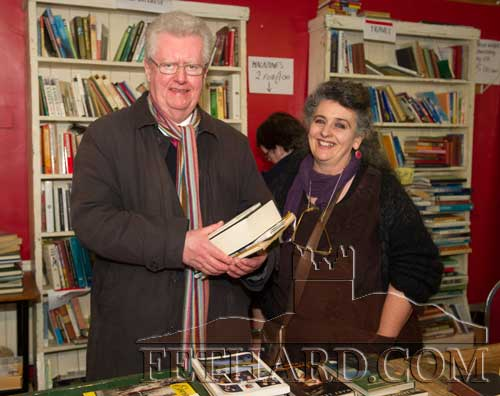 Author Gerard Crotty photographed with Pat Looby, Chairperson of Fethard Historical Society at the 20th Annual Tipperariana Book Fair in Fethard.