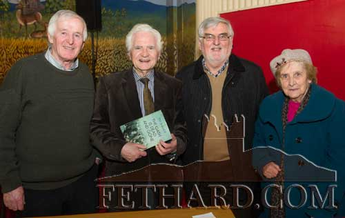 Photographed at the 20th Annual Tipperariana Book Fair in Fethard are L to R: Dr. Willie Nolan, Jim Maher author of 'The Oath is Dead and Gone', Noel Delahunty and Mary Maher.