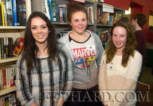 Photographed at the 20th Annual Tipperariana Book Fair in Fethard are L to R: Ruby Kennedy, Katie Whyte and Sarah O'Donnell.
