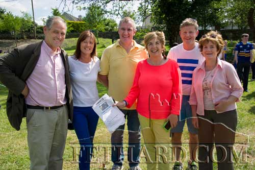 Members of the Fethard Business and Tourism Group photographed at this year's fundraising Festival 'Community Fun Day' L to R: Peter Grant, Ann Moloney, Maurice Moloney, Gráinne Bagnell, Jimmy O'Sullivan and Marie Murphy.