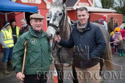 Photographed at the Tipperary Foxhounds charity cross country sponsored ride on Sunday, January 25, at Ballylusky, Drangan, are L to R: Jack Ronan and Liam Kearney.