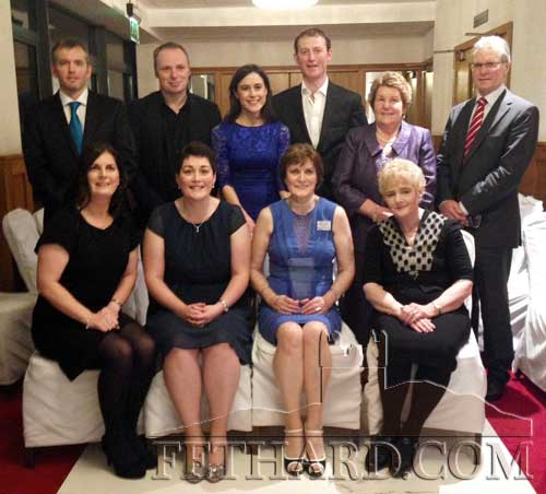 Members of the Colville family photographed at the Annerville Awards held in Clonmel Park Hotel on Saturday night last are Back L to R: Alan Connolly, Adrian Morrissey, Grainne Colville, P.J. Colville, Emby Walsh, Tommy Ryan. Front L to R:  Valerie Connolly, Avril Morrissey, Peggy Colville (this year's award recipient) and Theresa Ryan.