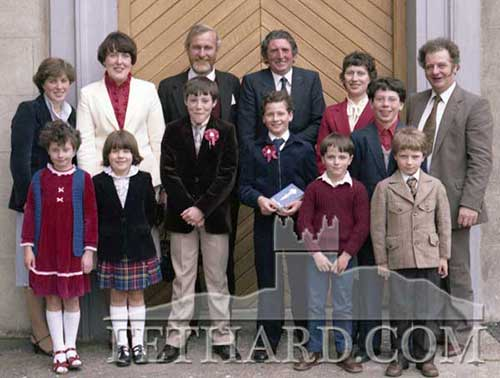 Burke and Hackett family at Confirmation Day in Fethard 1982