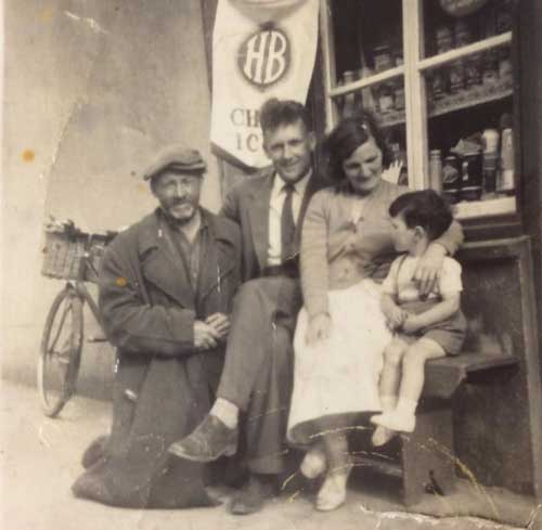 Bernard Fogarty posted this photograph taken outside Dot Mullins little sweet shop on lower Main Street. Anyone know the other people in the photo? Please email fethardnews@gmail.com