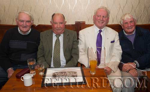 Photographed at the Kilnockin Emmets get-together in Lonergan's Bar are L to R: Jimmy O'Shea, Michael Flanagan, Sean 'Glamour' Walsh and Willie O'Grady.