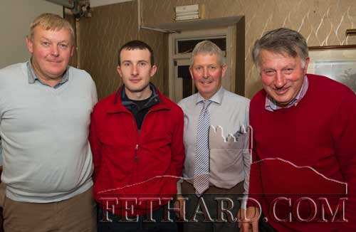 Photographed at the Kilnockin Emmets get-together in Lonergan's Bar are L to R: John Quirke, Owen Fanning, Derry O'Dwyer and Mossy Hyland.