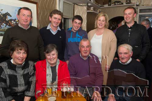 Members of the Brown family photographed at the Kilnockin Emmets get-together in Lonergan's Bar are Back L to R: Michael Brown, John Fogarty, Pat Brown, Cara Fogarty, John Fogarty. Front L to R: Sheila Brown, Marian Brown, Hugo Brown and Jimmy O'Shea.
