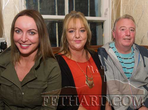 Photographed at the Kilnockin Emmets get-together in Lonergan's Bar are L to R: Rose Walsh, Angela Walsh and Paul Mullins.