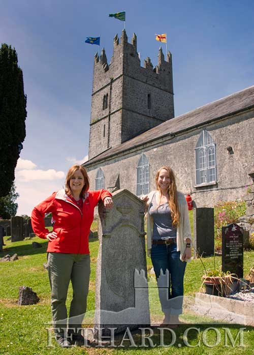L to R: Ruth Busalacchi and Elena Busalacchi, visitors from Wisconsin USA, photographed at this year's Fethard Festival 'Community Fun Day'.