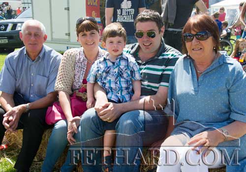 At the Fethard Festival 'Community Fun Day' were L to R Jimmy Ryan, Aisling Fanning, Charlie Fanning, Paul Fanning and Margaret Ryan from Clonmel