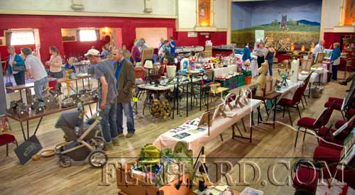 Overall view of the many art and crafts by local artists on display in Fethard Ballroom for the duration of the Festival.