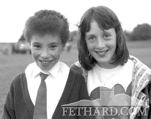 Kerry Ryan & Evelyn Eustace at the Community Sports May 1989