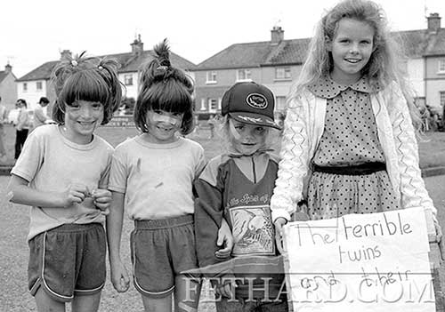 'The Terrible Twins' at Fethard Fancy Dress Parade 1988. L to R: Twins Siobhan and Katie Whyte, Marissa and Vicki Roche.