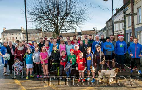 A section of the large crowd who took part in the Fethard Goal Mile on Christmas Day