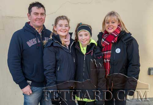 Photographed at the Goal Run in Fethard were L to R: Richie, Ciara, Aoife and Jackie Horan.