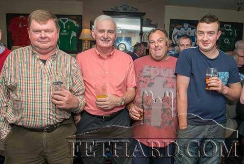 Photographed at the presentation night in Moyglass are L to R: M.G. Ryan, Michael Fahey, Tom Halley and William O'Neill