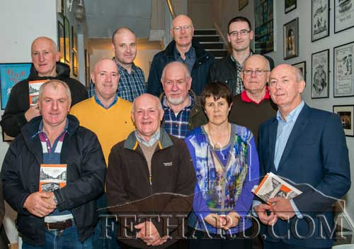 Members of the Fogarty family photographed at the book launch Back L to R: Frank Fogarty, Kieran Fogarty, Joseph Fogarty, Declan Fogarty. Middle L to R: Martin Fogarty, Pat Fogarty, Jim Fogarty. Front L to R: Tom Fogarty, Gerry Fogarty, Veronica Fogarty and John Fogarty.