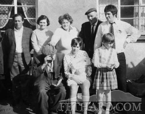 Davy and Bridget Morrissey's family at Don's Christening included are the Lonergan and Morrissey grandparents.