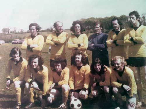 Bernard Fogarty also posted this photo of a Moyglass FC team 1975 Back row: Pakie Harrington, Ed Healy, Georgie Williams, Arthur Daly, Ed Sheehan (player/manager), Mick Teehan. Front row: Christy Healy, Noel Sharpe, Philly O'Connell, Mattie Tynan, Davy Williams and Bernie Fogarty.
