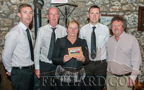 Photographed at the presentation night in Moyglass are L to R: Timothy, Owen, Phyllis and Harry O'Callaghan, Matty Tynan. Phyllis is a sister of the late Henry Smith who was a committee member and remembered on the night.