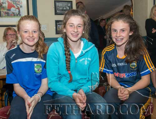 L to R: Carrie Davey, Lucy Spillane and Leah Coen photographed at the presentation of the Fethard Sports Achievement Award for August