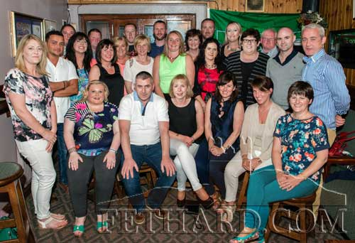 Photographed at the the Class of 1990 held a reunion in Burke's Bar on July 25, are Back L to R: Maura Collison, Kumar Metha, Keith Tobin, Tina Kenny, David Purcell, Noelle Russell, Debbie Coen, Micheál Spillane, Sandra Wade, John O'Flynn, Eleanor Sheehan, Jennifer Cummins, Pat Phelan, Mandy O'Donnell, Clara Phelan, Niamh Kenny, John Meagher, P.J. Tobin, Paul O'Meara. Front L to R: Sinead Blake, Martin Coen, Eleanor Maher, Sarah Ryan, Fionnuala Murray and Pamela Morrissey.