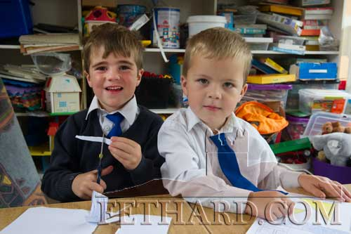 Starting school at Fethard Holy Trinity National School were L to R: Thomas O'Rahilly and Eoghan Neville.