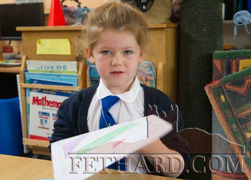 Lily-Mai Walsh starting school at Fethard Holy Trinity National School