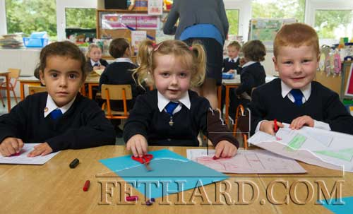 Starting school at Fethard Holy Trinity National School were L to R: Keyla Carroll, Jenna Smith and Conor Prendergast.