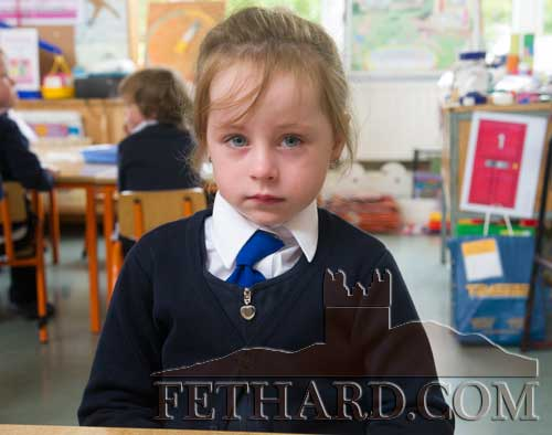 Bella Collins starting school at Fethard Holy Trinity National School