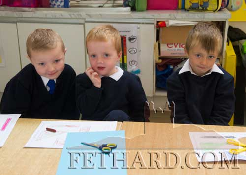 Starting school at Fethard Holy Trinity National School were L to R: Dean Moloney, Freddie Clemson and Aaron Allen.