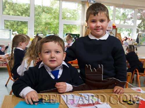 Starting school at Fethard Holy Trinity National School were L to R: Kieren Kelly and Emre Cicek.