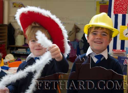 Starting school at Fethard Holy Trinity National School were L to R: Aidan Herbert and Thomas O'Rahilly.
